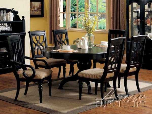 Amazing Black Country Dining Room Sets Black Dining Table ...