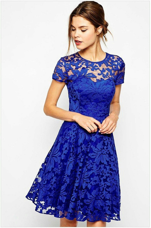 kingfield royal blau fairy floral lace overlay skater frauen