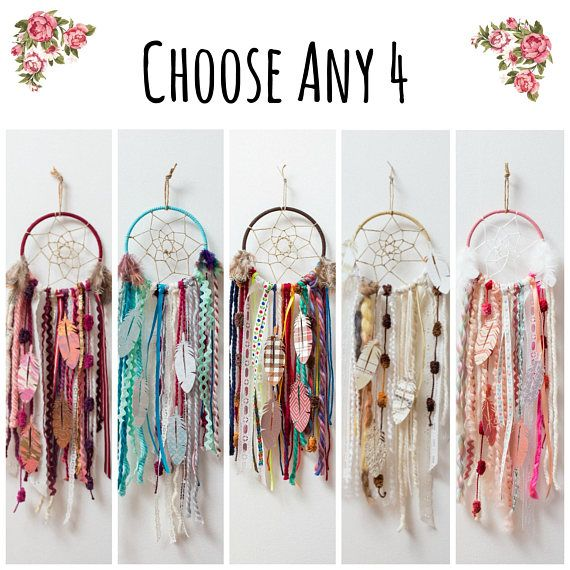 Choose Any 4 DIY Dream Catcher Kits.  Do it Yourself Craft Kit Gift for Boys or Girls by The House P