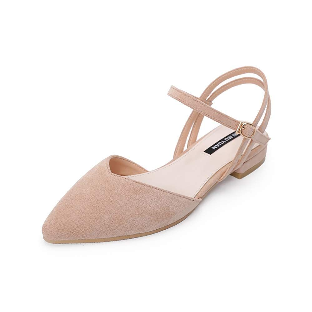 8c0f561275572 Amazon.com | Wollanlily Women's Pointy Toe #Flats D'Orsay Buckle ...