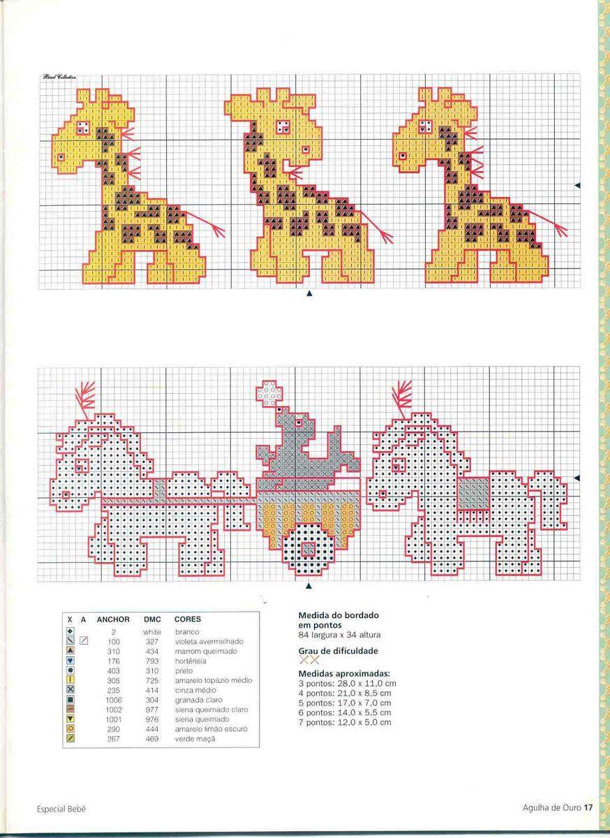 Cerchi schemi a punto croce per bambini il tuo animale for Giraffa punto croce