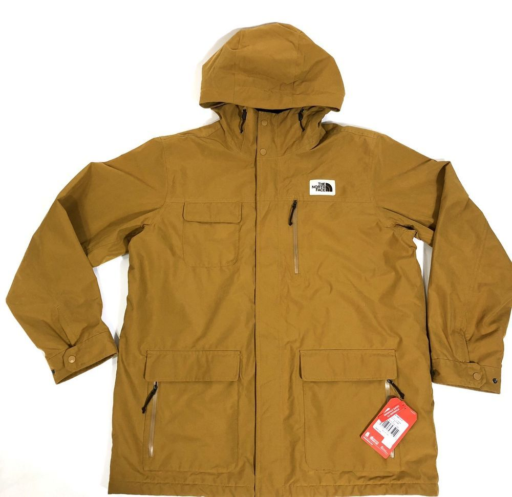 7e25aa44156d THE NORTH FACE Men s Cuchillo Parka Winter Jacket size XL Golden Brown  190851435929