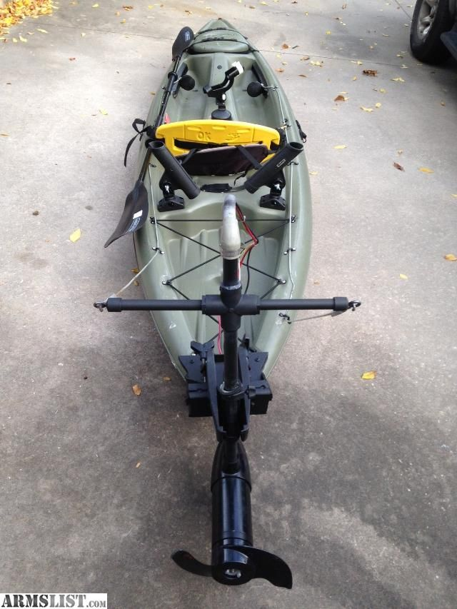 For Sale 12 Kayak With Trolling Motor Great Fishing Rig Kayak Fishing Diy Kayak Fishing Setup Kayak Fishing