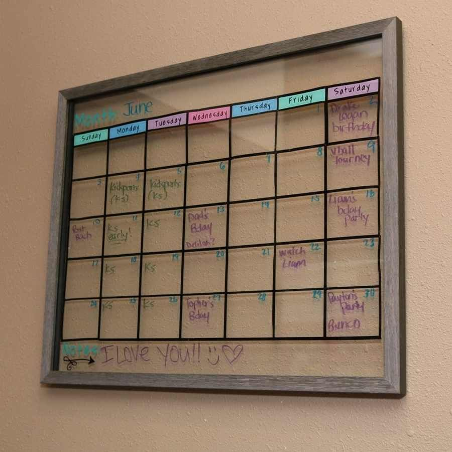 DIY Wall Calendar & To Do List in 2020 (With images) Diy