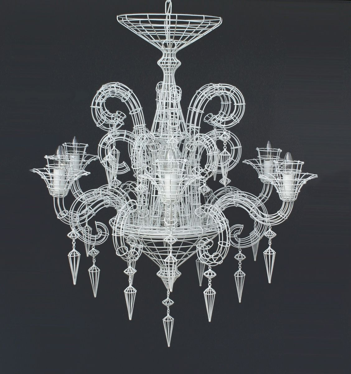 Biju grand french wire chandelier white lighting pinterest find this pin and more on lighting wire chandelier arubaitofo Images