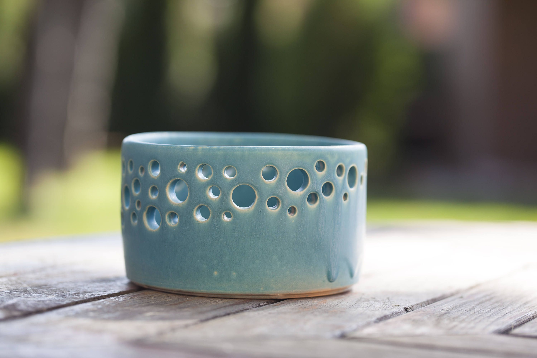 Decorative Ceramic Bowls Decorative Ceramic Bowl With Pierced Rim Ceramic Fruit Bowl