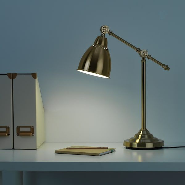 Ikea Schlafzimmer Tischlampe Barometer Brass-colour, Work Lamp - Ikea In 2020 ...