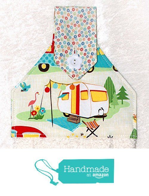 Hanging Hand Towel For Kitchen Or Bath   Retro Camping Print   RV Camping  Decor