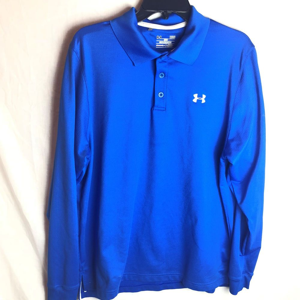 Details About Lot Of 2 Under Armour Loose Mens Sz Large Polo Shirt