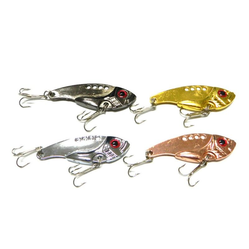 10 Pieces Fishing fishs hard baits spoon lures lure metal hook red feather 3.5cm