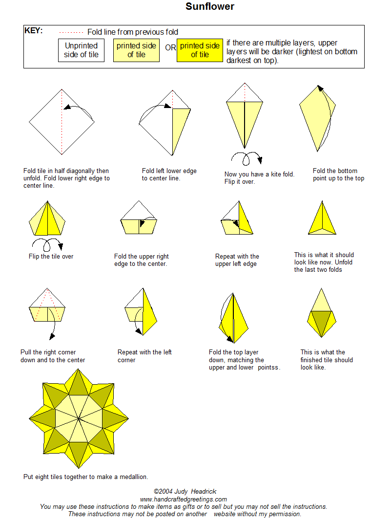hight resolution of sunflower tea bag fold instructions