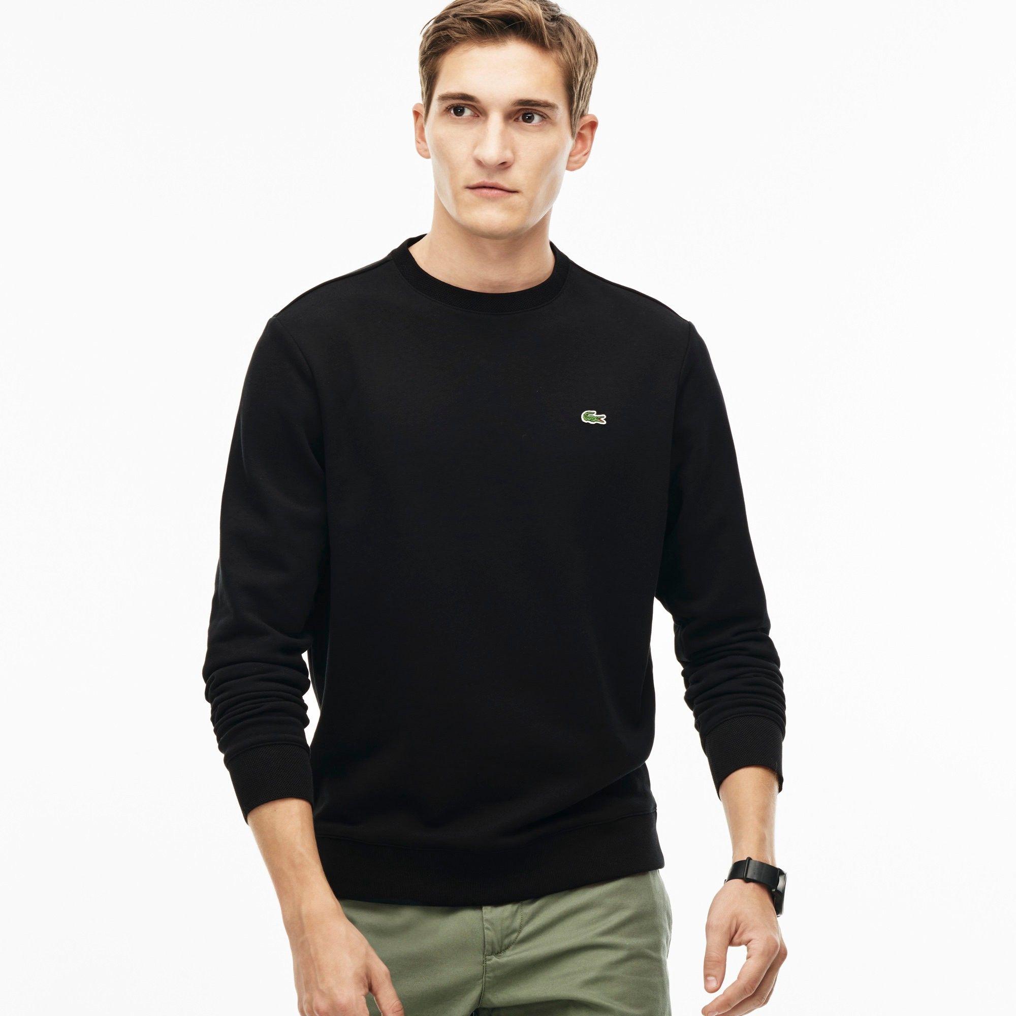 b6f6539b4 LACOSTE Men S Fleece Sweatshirt - Black.  lacoste  cloth  all ...
