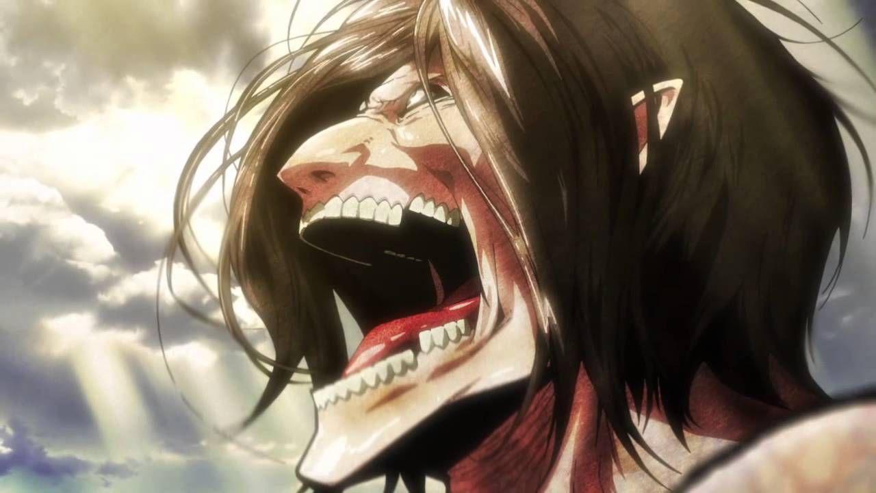 eren titan form teeth Eren Yeager in titan form  Attack on titan, Attack on titan anime