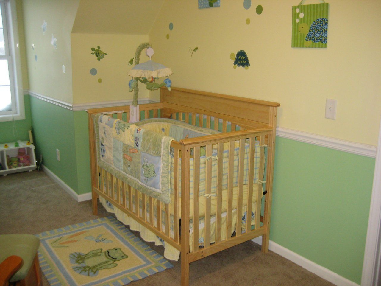 Green And Yellow Nursery Room Ideas Decor