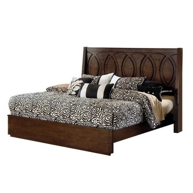 Presley Dark Birch Bed - Overstock Shopping - Great Deals on Beds