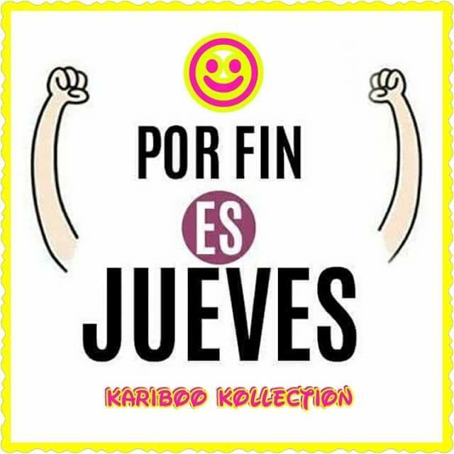 SIIII☺☺ YA CASI VIERNES!!! SEGUIMOS LABORANDO NO DEJEN DE SEGUIRNOS: TWITTER: @2015_kariboo  INSTAGRAM: @karibookollection  FAN PAGE: Kariboo Kollection  LES DESEO UNA FELIZ Y ALEGRE MAÑANA  FELIZ JORNADA #yacasiviernes  #FELIZJUEVESYNOTEHARTES  #FELIZYALEGREMAÑANA  #JUEVES