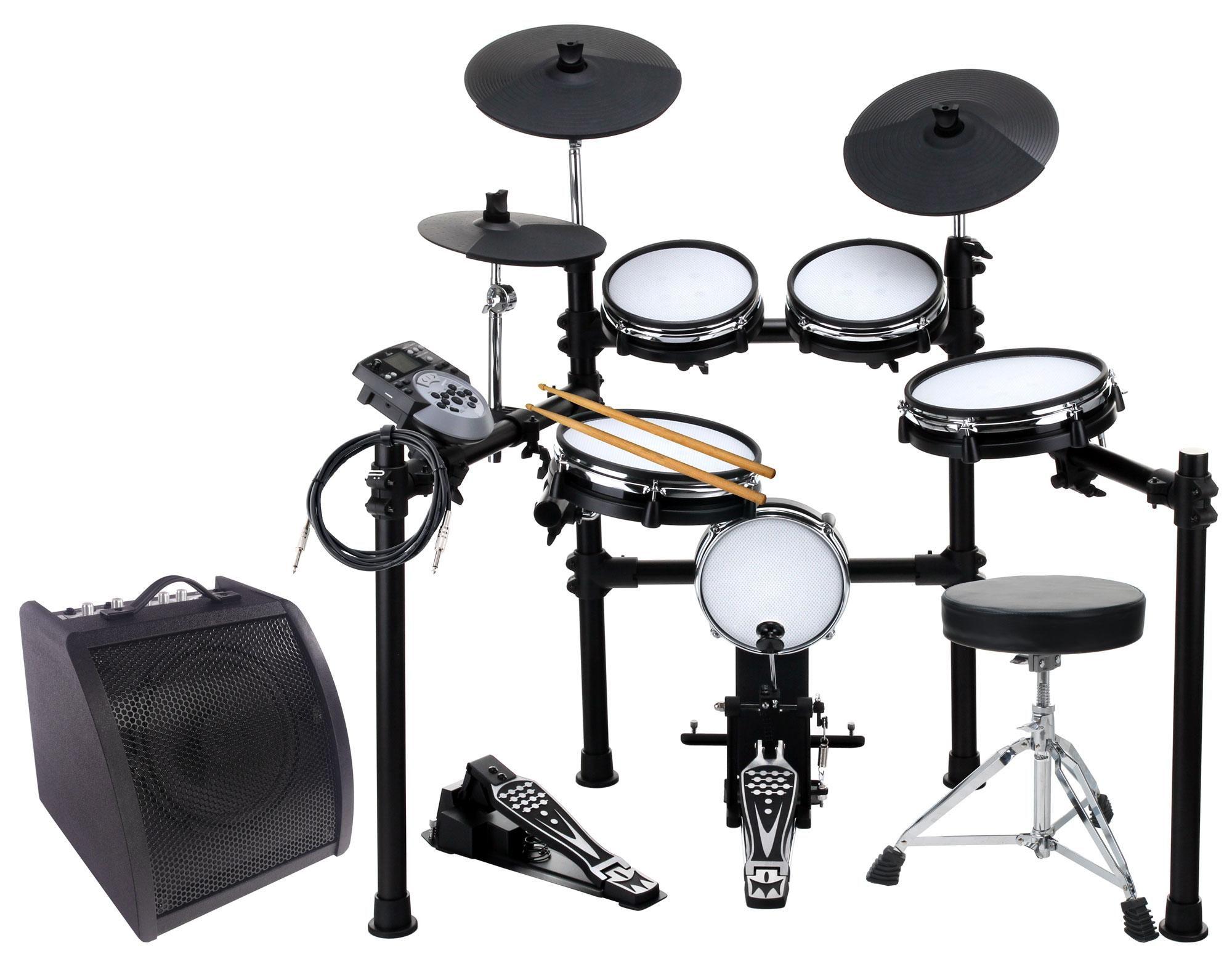 XDrum DD 530 Mesh Heads E Drum LIVE SET mit Drum Monitor und