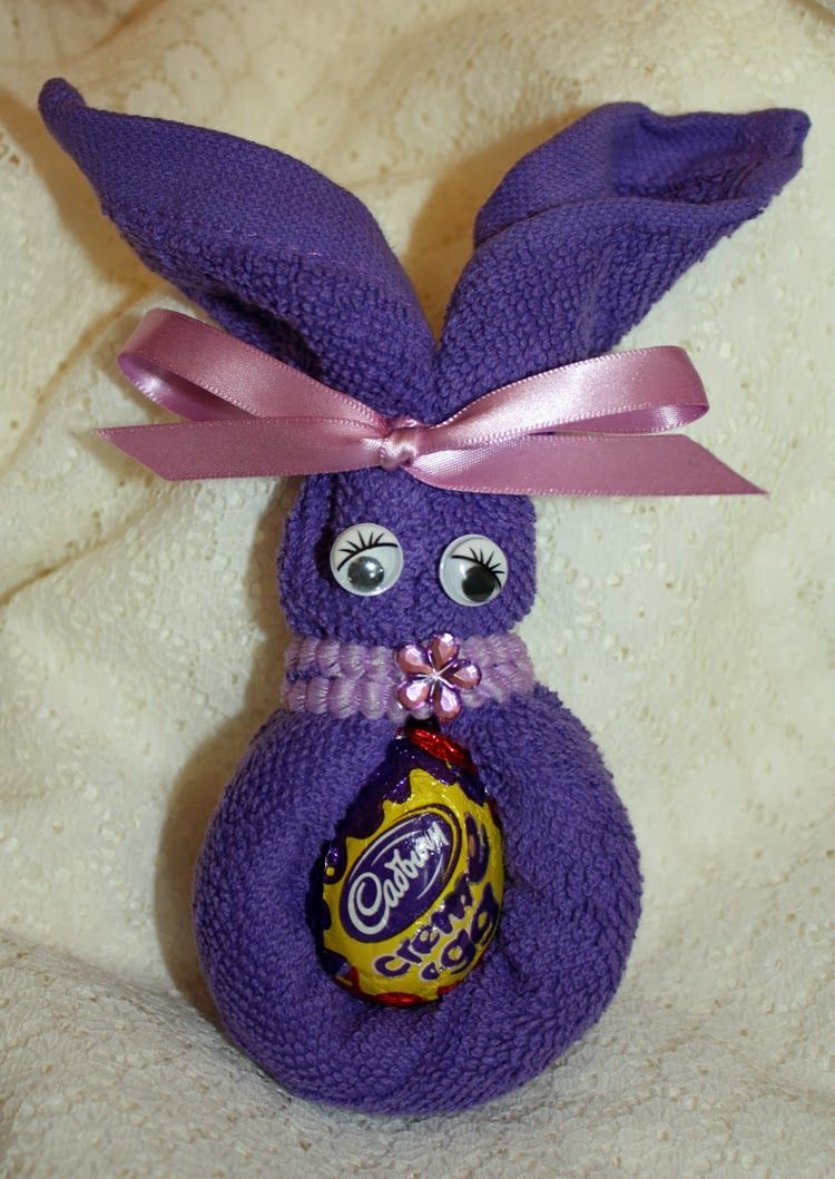 Easy spring crafts for seniors - More Face Cloth Easter Bunny Ideas Spring Craft And Other Activities For The Elderly