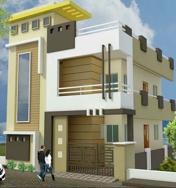 The exterior design of these homes takes  minimalist approach west facing house front also duplex plans elevation photos indian style rumah minimalis rh pinterest