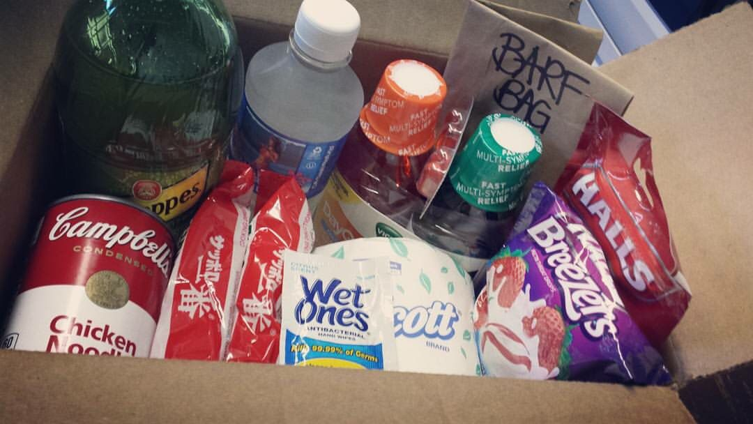 #CarePackage I made for my boyfriend when he was #sick