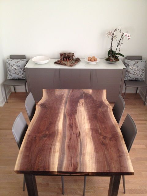 Solid Wood SALVAGED and RECLAIMED raw edge TABLES by URBAN TREE SALVAGE.  Specializing in custom