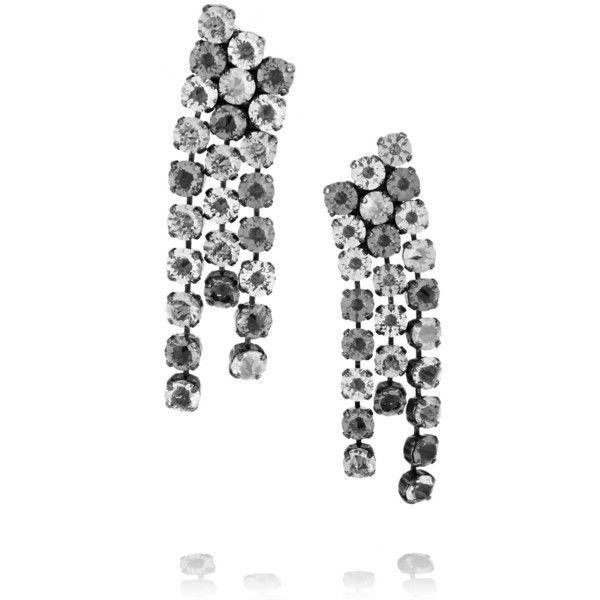 Lanvin Crystal-drop clip-on earrings 5HYWR0yWw