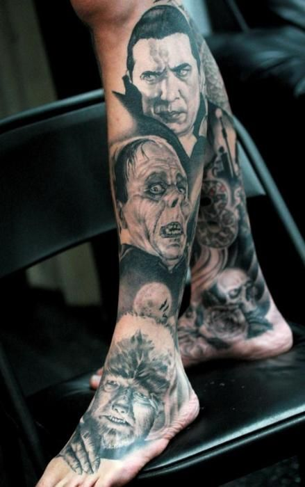 Boys And Ghouls Monster Tattoo Scary Tattoos Tattoos