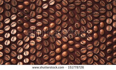 Coffee Bean Zoom Up Pattern With Vary Rotation Degree Background Made Of Coffee Bean
