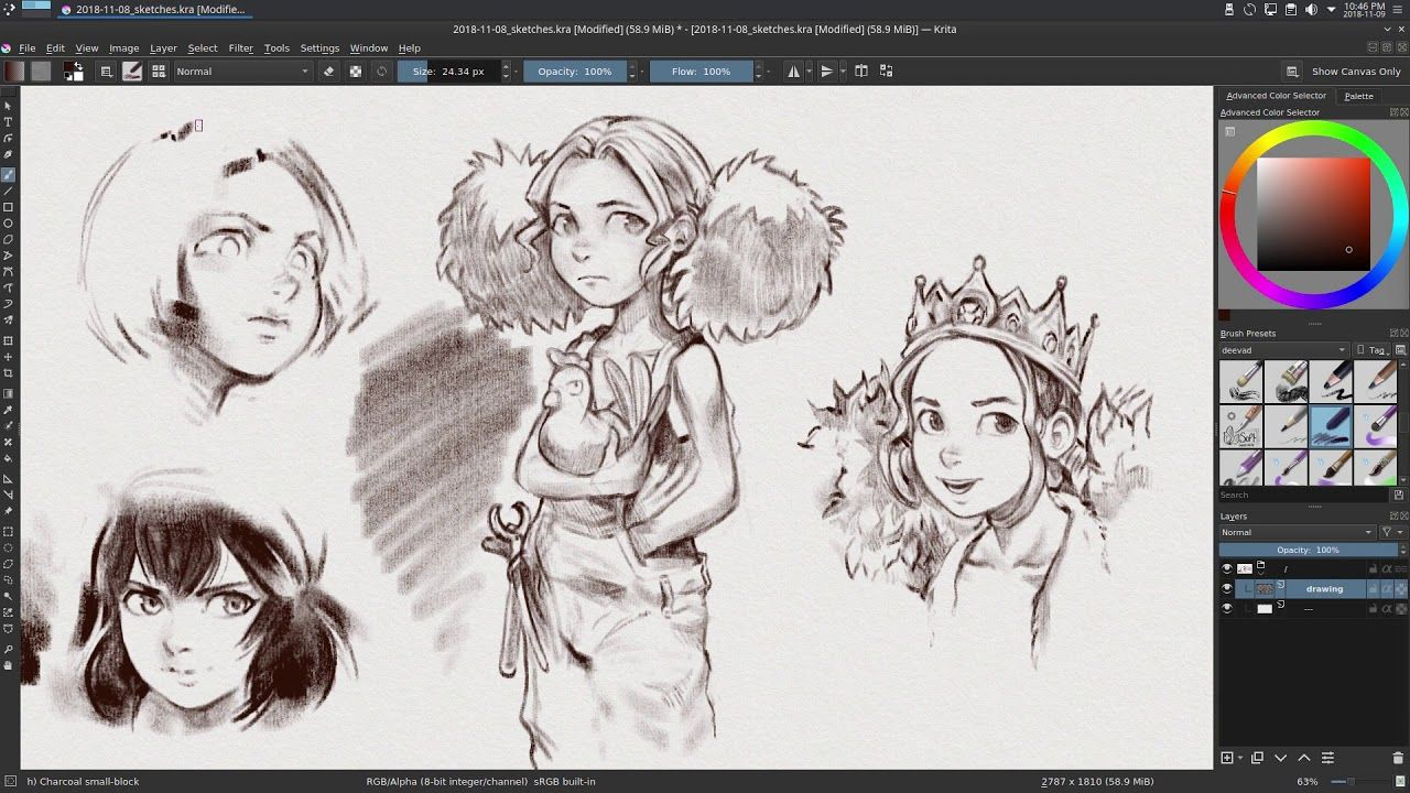 Brush Preset Duo Free Bundle For Krita Krita Krita Tutorial Animal Sketches