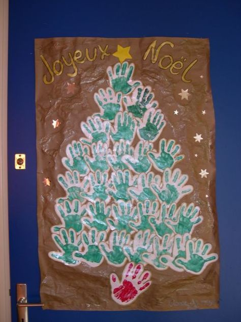 Arbre de Noel collectif - Noël - Galerie - Forums-enseignants-du-primaire #deconoelmaternelle