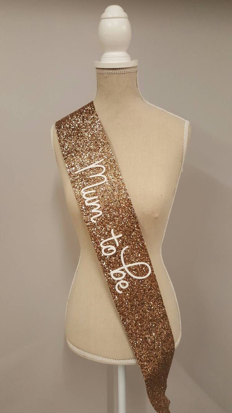 Rose Gold Mummy To Be Baby Shower Sash