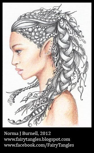 Fairy Tangles Reference Pictures Fantasy Pinterest