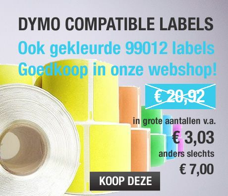Buy Dymo labels online from http://www.labelstickers.nl/