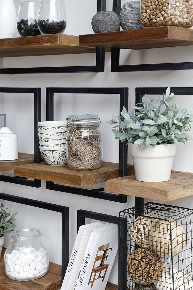 A detail of SHELFMATE. Check out the planks of premium reclaimed ...