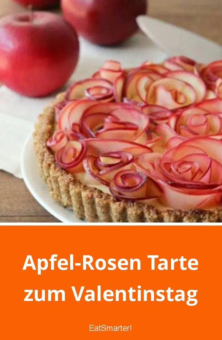 Apfel-Rosen Tarte zum Valentinstag