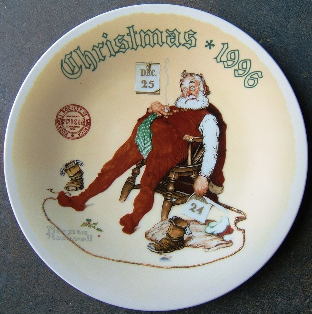 Norman Rockwell And To All a Good Night Knowles Christmas Plate 1st ...