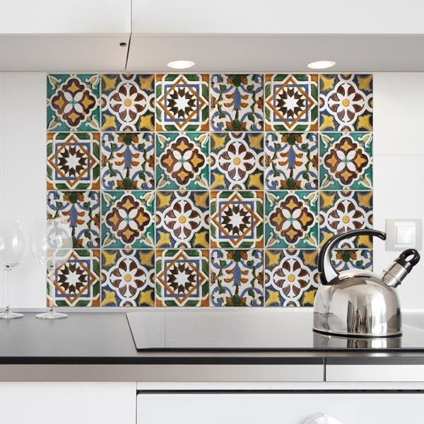 Create a beautiful tile backsplash behind your sink or ...