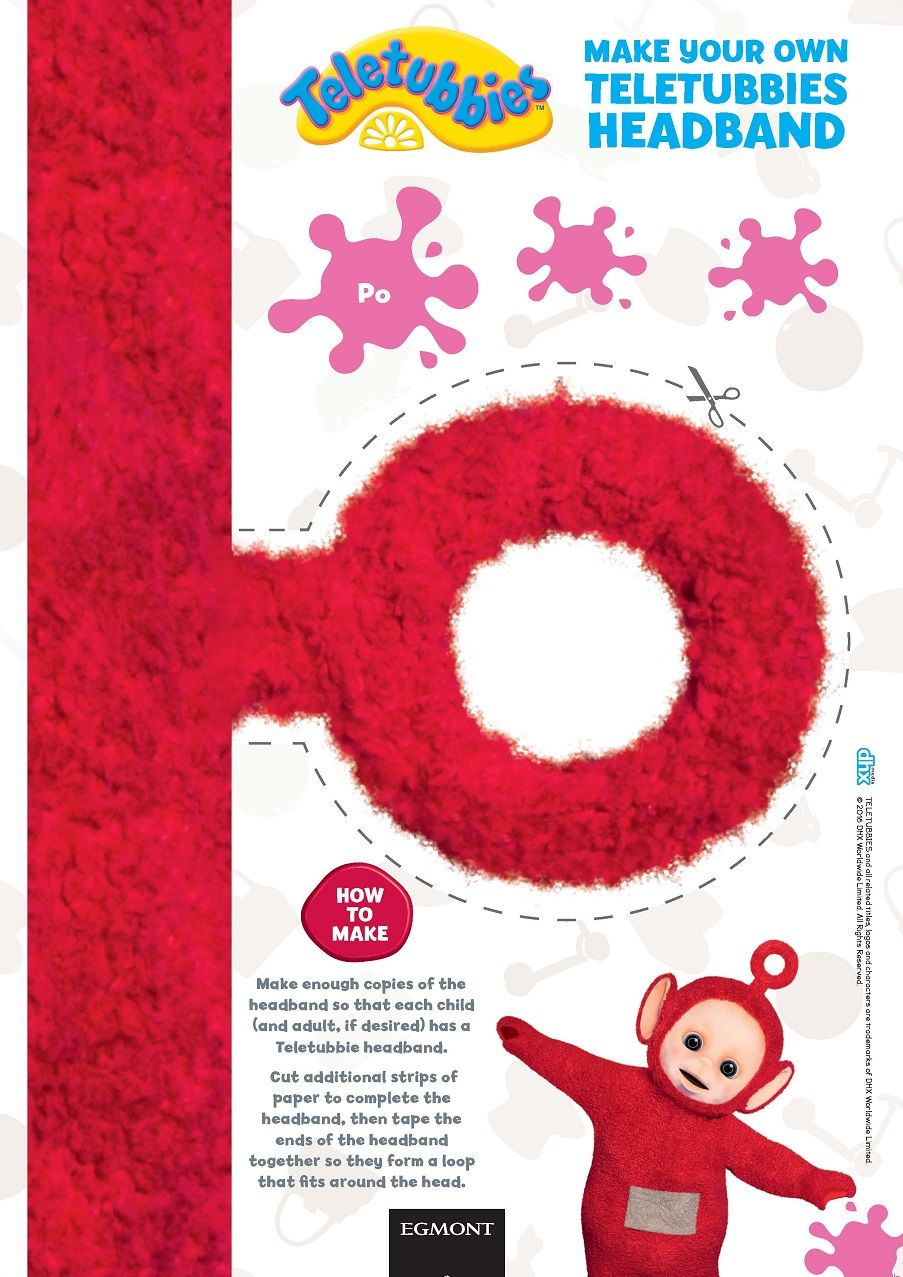 make your own teletubbies headband find the brand new teletubbies