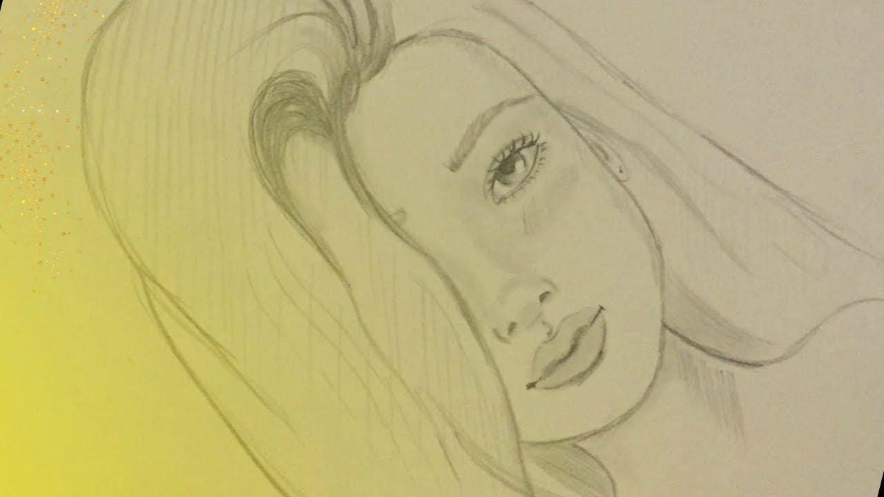 How To Draw A Face Of Girl With One Pencil Drawings Pictures To Draw Easy Drawings