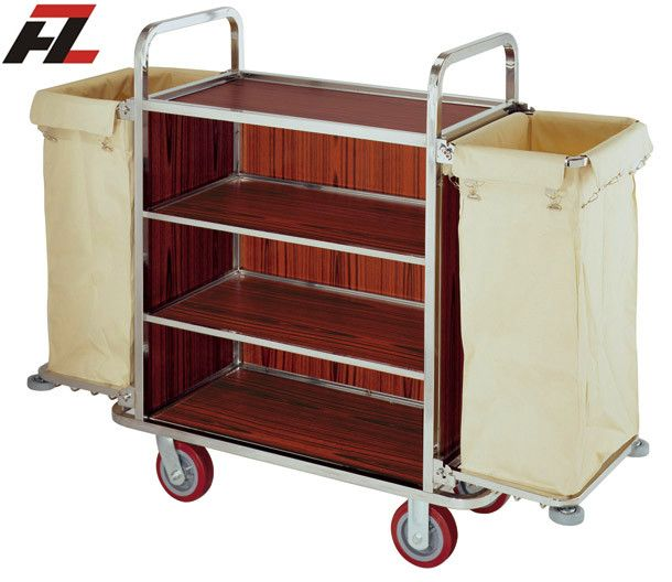 Hotel Brown Heavy Duty Housemaid Trolley-Housekeeping Cleaning Trolley sales_hotelsupply@hotmail.com http://www.everychina.com/f-z52d9460/