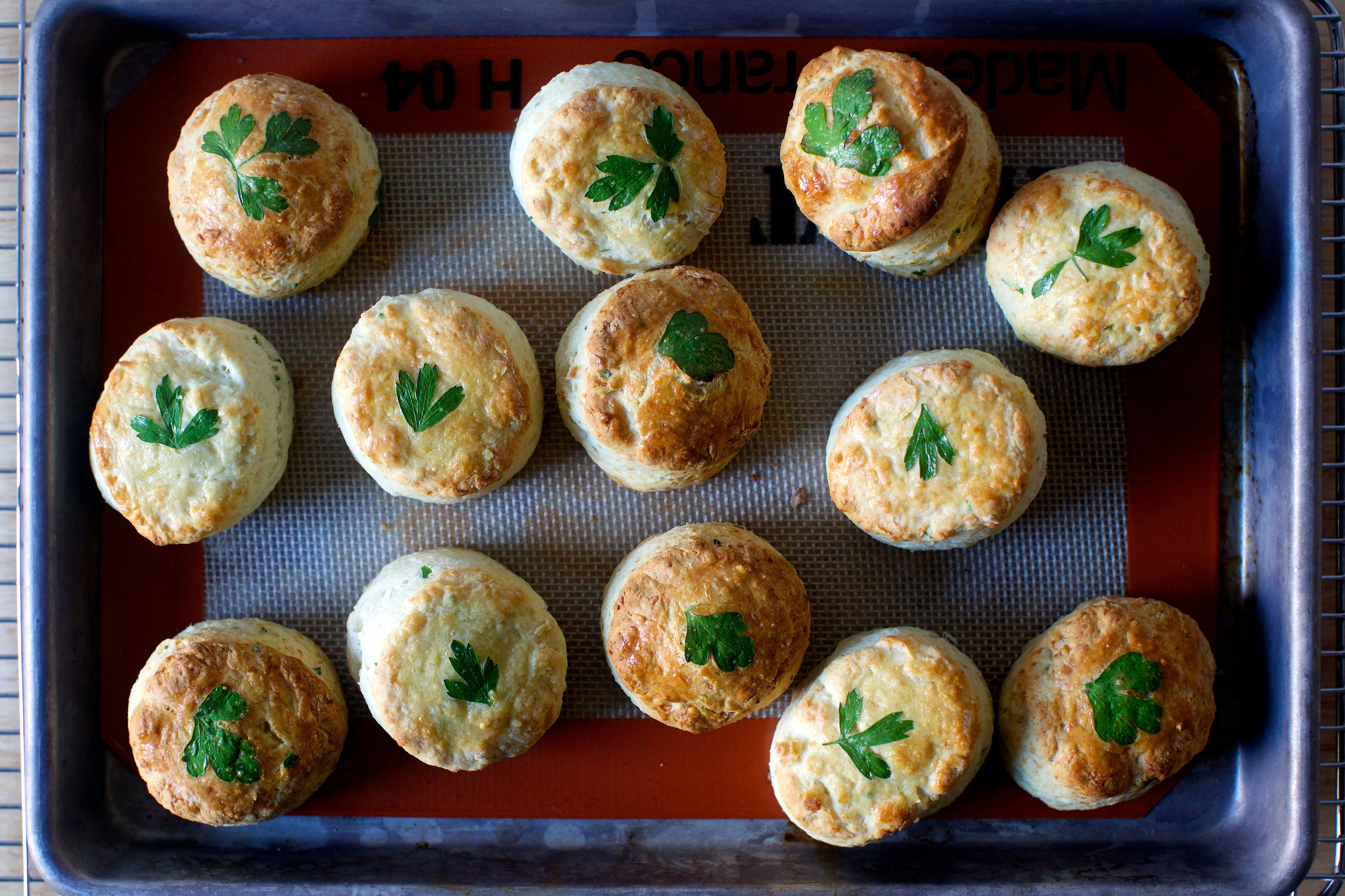 Parsley Pecorino Biscuits Food Food Recipes