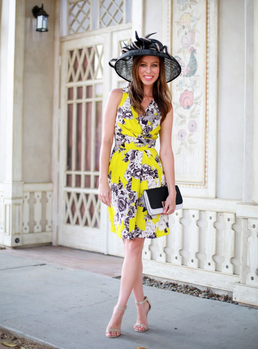 6079580ea5 Sydne Style what to wear to the Kentucky Derby southern Style fashionable  hats fascinator Yoanna Baraschi dress