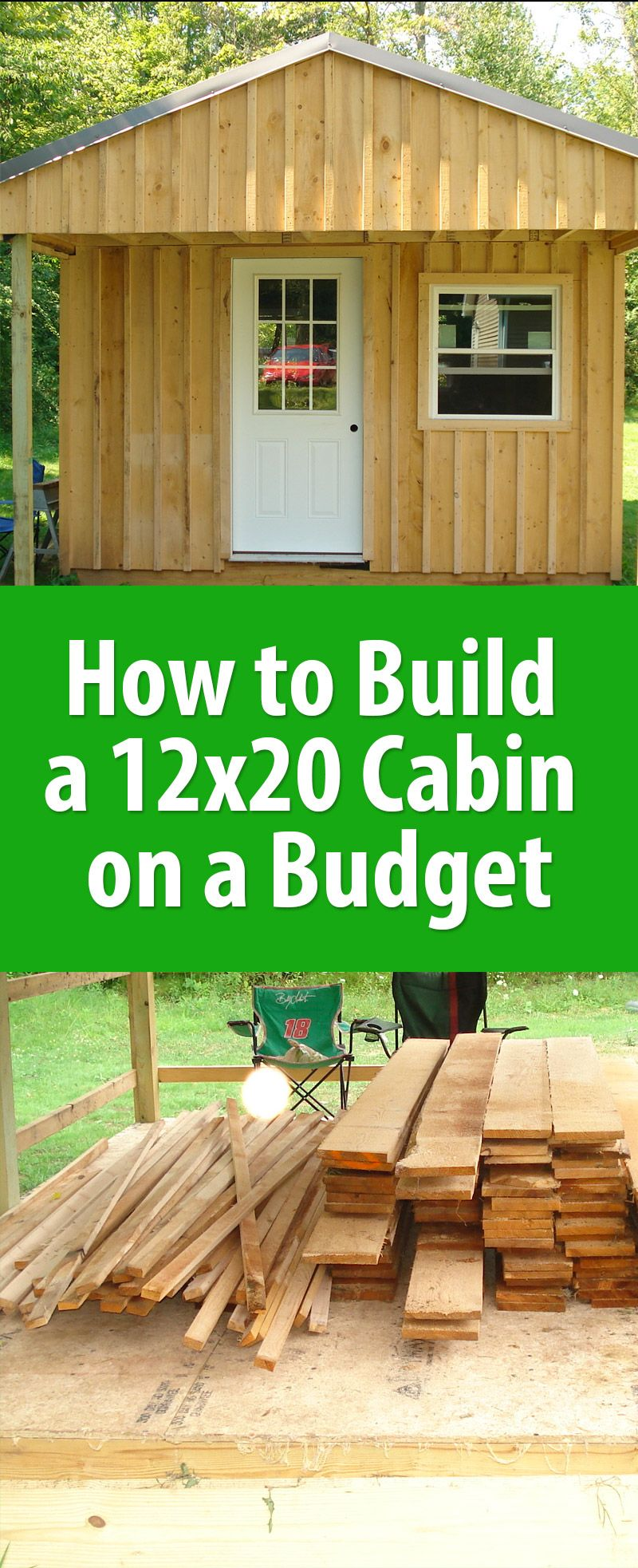 How To Build A 12x20 Cabin On A Budget Building A Cabin Building A Shed Cabin