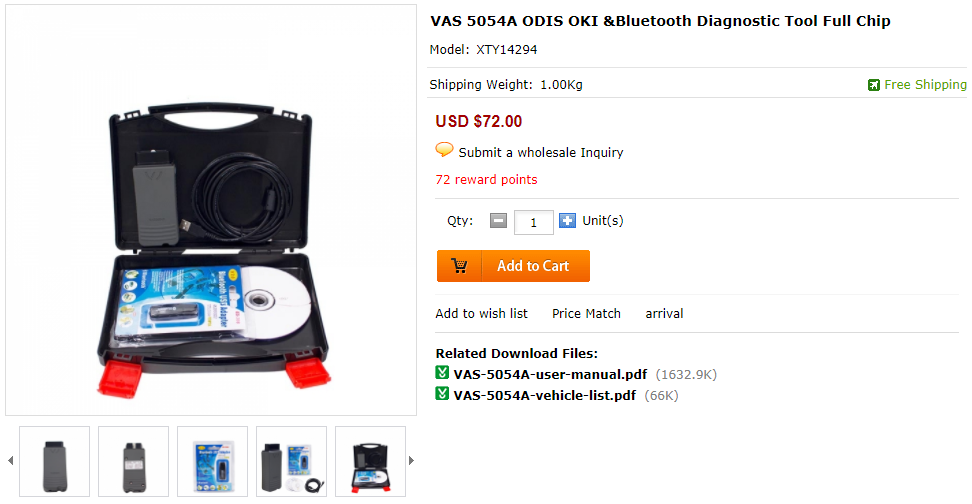 Vagcable #vcds #vagcom #5054A #VAS5054A VAS 5054A OKI Chip is a