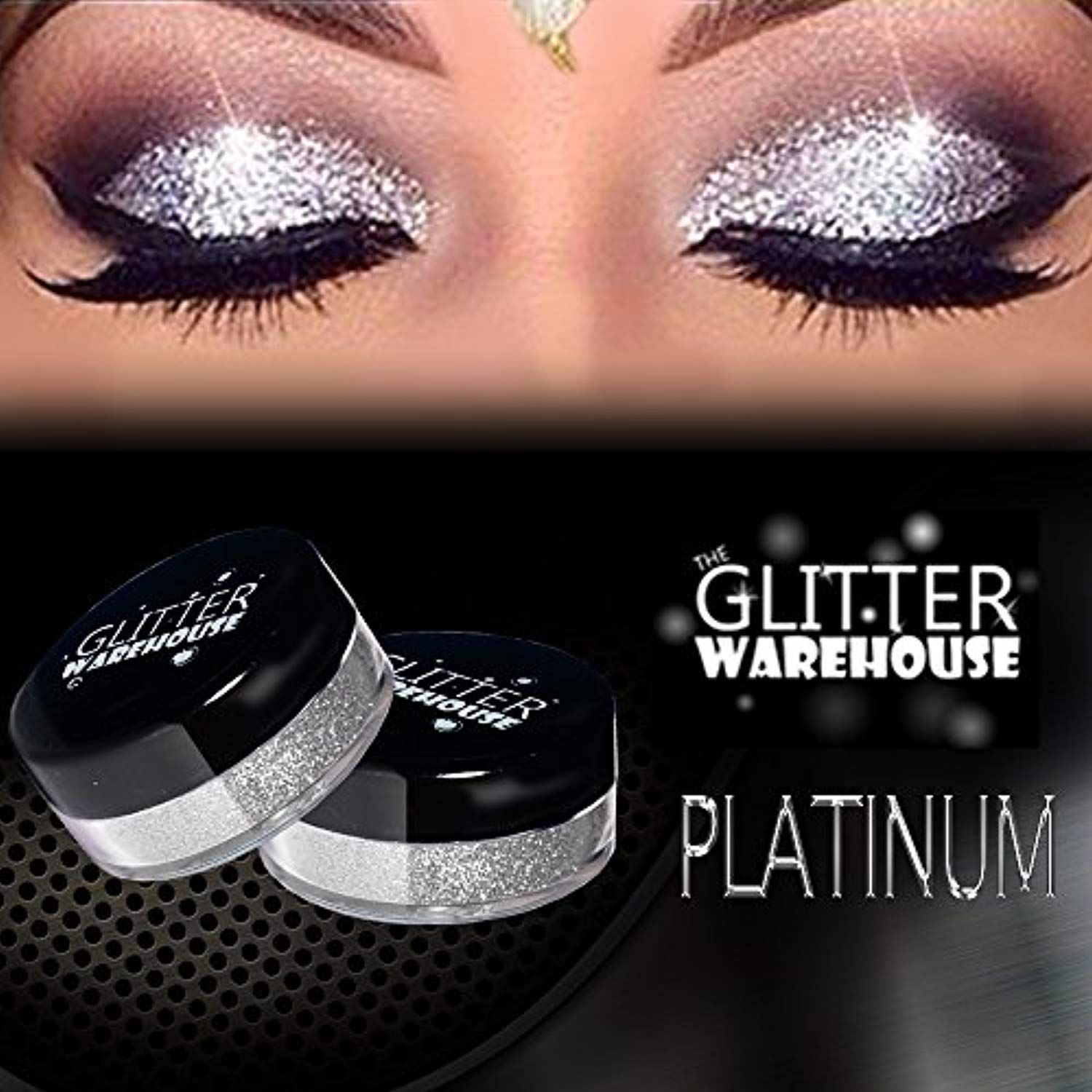 GlitterWarehouse Platinum Silver Loose Glitter Powder