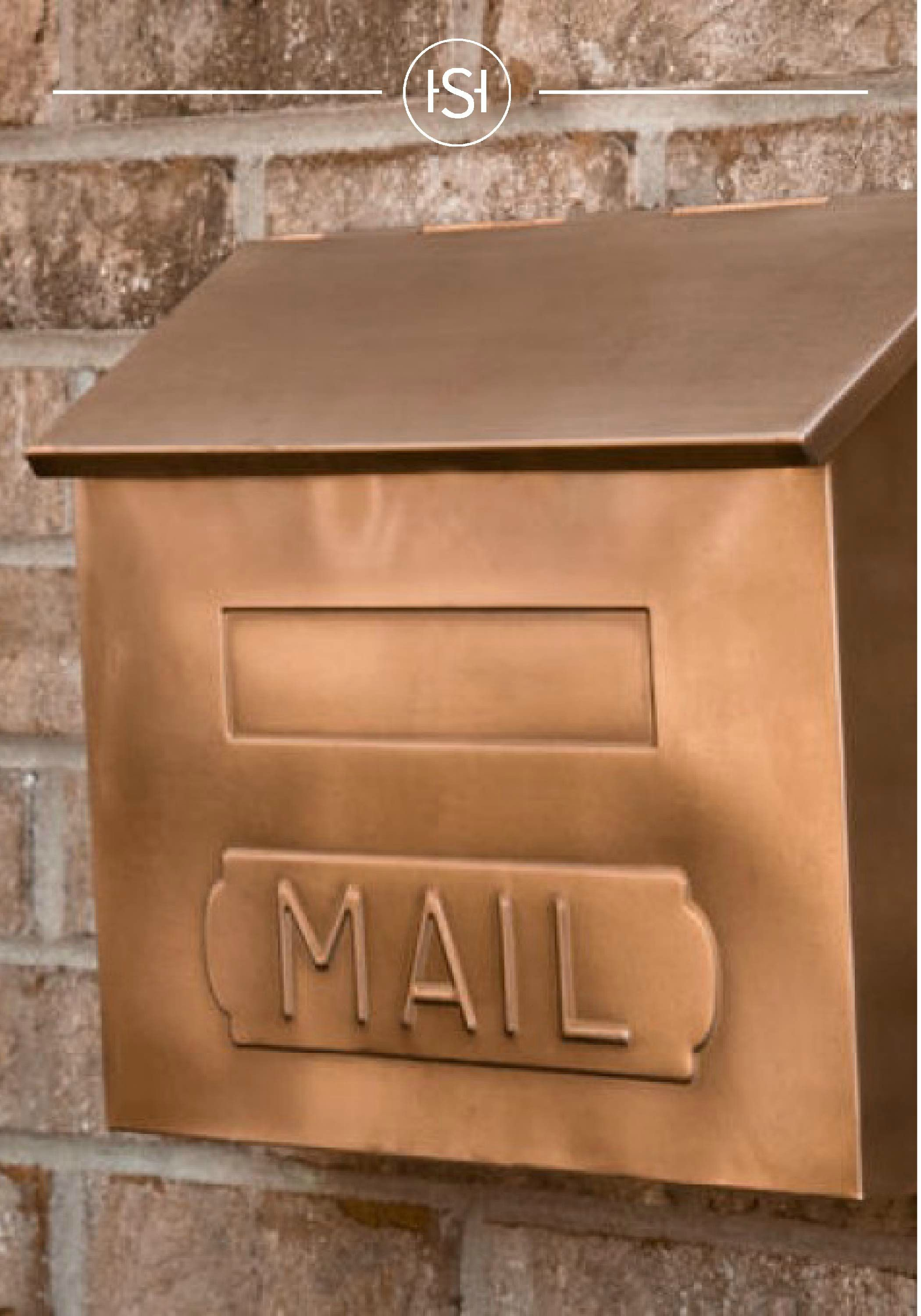 Horizontal Mail Wall Mount Copper Mailbox Antique Copper Mailboxes And Slots Outdoor Wall Mount Mailbox Copper Mailbox Wall Mounted Mailbox