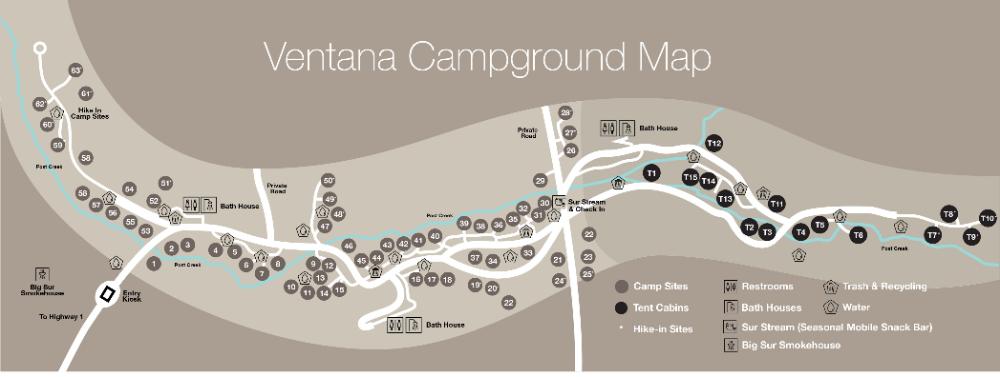 Luxury Campgrounds in Coastal CA   Ventana Big Sur Camping ...