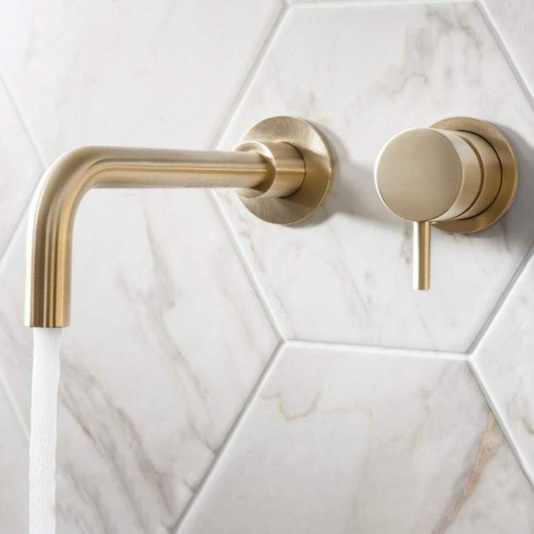 Photo of Crosswater MPRO Wall Mounted Basin Mixer Tap – Brushed Brass