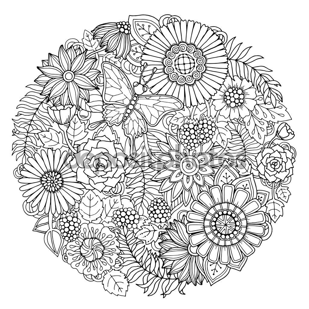Pin De Silvinarte En Hda 1 Doodles De Flores Paginas Para Colorear De Flores Doodle
