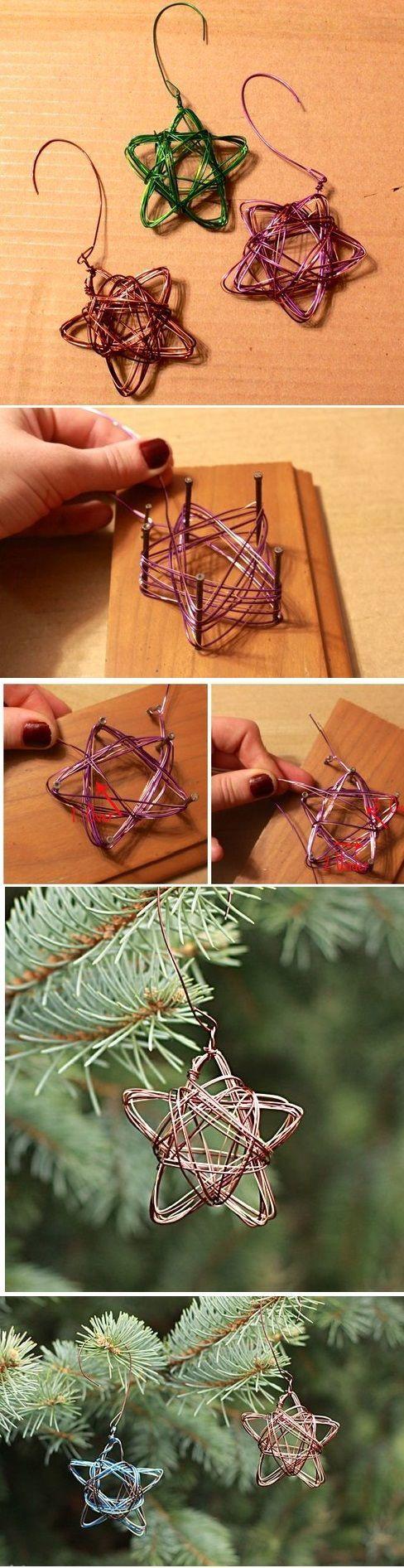 Handmade Star Wire Ornament Christmas Crafts Christmas Crafts Diy Diy Christmas Ornaments